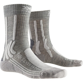 X-Socks Trek Silver Chaussettes Femme, dolomite grey melange/pearl grey